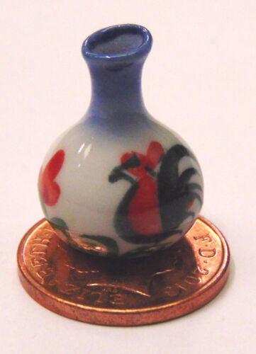 Escala 1:12 2cm alta Cerámica Gallito Florero tumdee Ornamento De Casa De Muñecas Flor C2