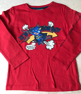 T-SHIRT-034-KNOT-SO-BAD-034-ROUGE-TAILLE-116-6-ANS
