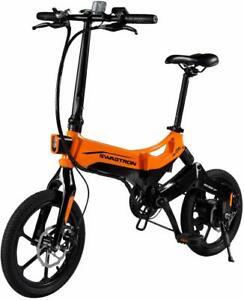 Swagtron EB7 Plus Folding Electric Bike w/ Removable Battery Pedal-Assist eBike