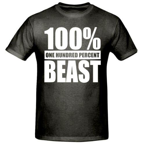 100/% BEAST MEN/'S T SHIRT,SM-3XL,TEE SHIRT,BEAST T SHIRT,GYM T SHIRT