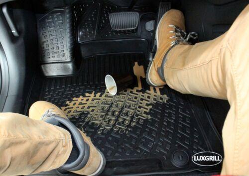 NFLPE707 Premium 3D Alfombrillas de Goma Alfombras Peugeot 407 04-12 Todos