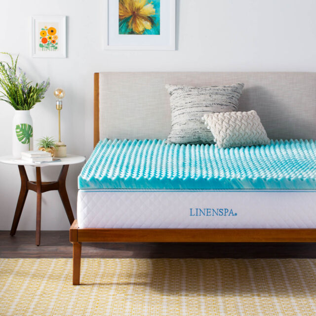 Buy Linenspa 2 Inch Convoluted Gel Swirl Memory Foam Mattress Topper