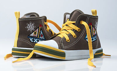 Boys High Ankle Canvas Shoes Trainers size 8-11,5