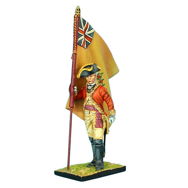 First Legion  AWI042 British 22nd Foot Standard Bearer - Regimental colors
