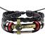 Fashion-Men-Black-Leather-Belt-Bronze-Jesus-Beads-Bangle-Bracelet-Wristband-Gift thumbnail 1