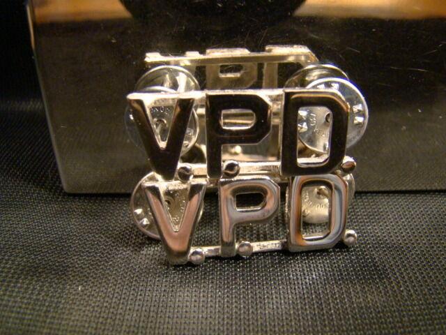 "Metal Brand New 7//16"" Uniform Pins LPD Pair of Silver L.P.D"