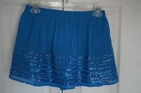 Hollister Blue Short Skirt Sequin Lined Stretch Waist Size S