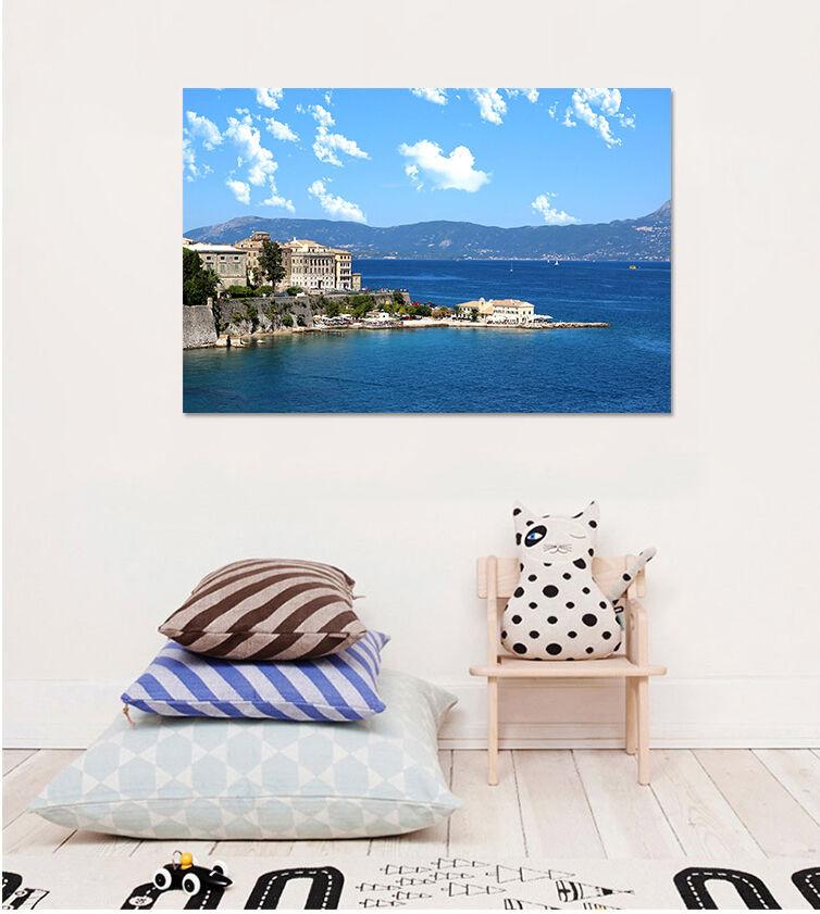 3D Blauer Himmel Meer 687 Fototapeten Wandbild BildTapete AJSTORE DE Lemon