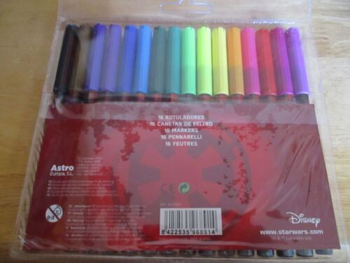 Star Wars Licensed 16pc Colouring Markers