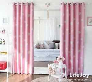 Blockout Eyelet Curtain Pink Drapes Kids Baby Girl S Children Room 180cm X 230cm Ebay