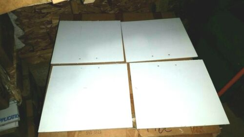 """Clear 12.75/"""" x 12/"""" WITH HOLES 4 PC LOT GE Lexan Sheet Polycarbonate 1//8/"""" Thick"""