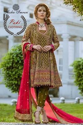 Pakistani Maria B Mehndi Collection 2018 Embroidery Designer Shalwar Kameez Suit