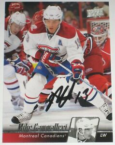 MIKE-CAMMALLERI-SIGNED-10-11-UPPER-DECK-MONTREAL-CANADIENS-CARD-AUTOGRAPH-AUTO