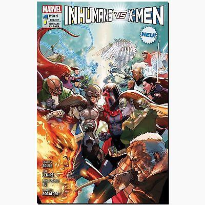 Inhumans vs. X-Men Bd. 1 von 2 REGULÄR SC COVER  Mavel vs. DC PANINI COMIC NEU !