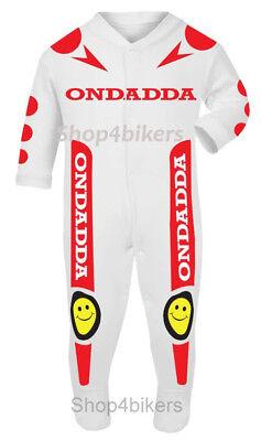 Babygrow romper vest sleepsuit xmas daddy Motocross Mx Dirtbike enduro baby mum