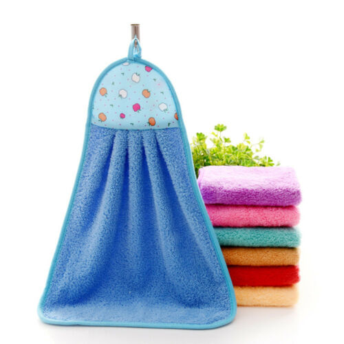 Hand Towels Soft Plush Towels Hanging Wipe Home Kitchen Bathing Hand Wipe Towels