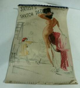 Artists sketch pad calendar 1945 K O Munson Brown & Bigelow pin up complete
