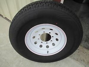 1 New ST 235/85R16 Cargo Max Radial Trailer Tire and Wheel 14 Ply 2358516 85 16