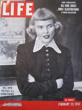 LIFE Feb 23 1953 SANDBURG Kid Gavilan, Ezra Benson, Beliveau, Galesburg, C Davey