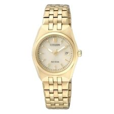Citizen Ladies Eco-drive Gold Tone Stainless Steel Analog Watch Ew2292-67p