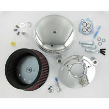 Chrome Big Sucker Stage II Perf Air Cleaner Kit w/Smooth Steel Cover - 18-818
