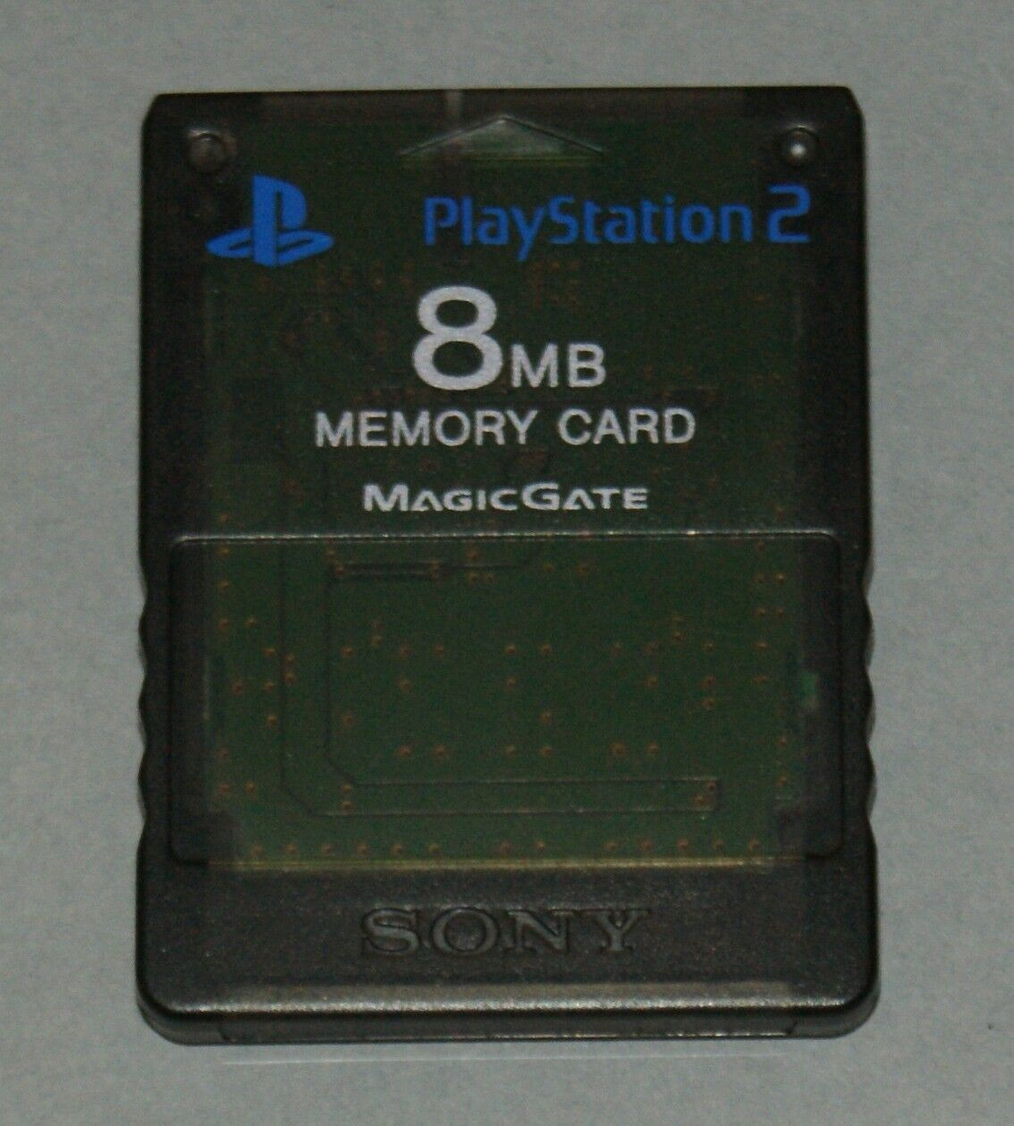 Clear Black 8MB Official PS2 Memory Card - Sony PlayStation 2 SCPH-10020 Smoke