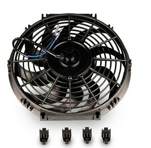 12-INCH-BLACK-High-Performance-Black-Thermo-Fan-Electric-Fan-Kit-12v