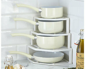 Plate-And-Pan-Stacker-Store-Rack-Holder-Corner-Cupboard-Space-Saver-Kitchen-AA1