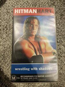 BRET-HITMAN-HART-WRESTLING-WITH-SHADOWS-VHS-TAPE-1998-DOCUMENTARY-WWF-WWE-RARE