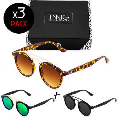 Tres gafas de sol TWIG Pack QUENTAL hombre/mujer redondos vintage fashion