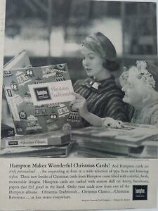 1957-Hampton-Personal-Saludo-Tarjetas-Catalogo-con-Libro-Vintage-Anuncio