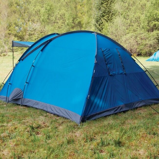 Elm Person 4 Vivid Blau - 4 Person Elm Family Tent with Two Bedrooms Camping Outdoor Hiking 6dca26