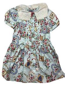 VTG-Girls-San-Francisco-Blues-Dress-4-Apron-Heart-Buttons-Floral-Scribble-Print
