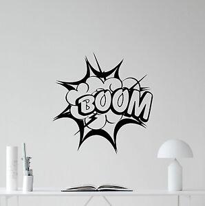 Image Is Loading Boom Superhero Wall Decal Pow Bang Comics Batman