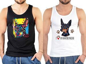 cheap for discount b782a 22697 Details zu Zwergpinscher Motiv Trägershirt Männer Herren T-Shirt  Hunderassen Pinscher Shirt