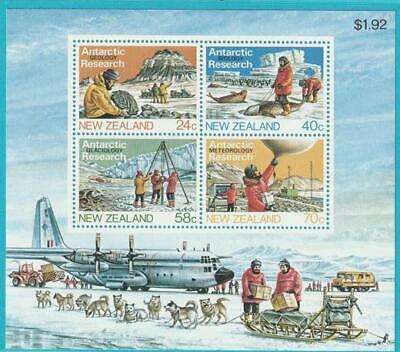 Neuseeland Aus 1984 ** Postfrisch Block 5 Antarktisforschung Phantasie Farben