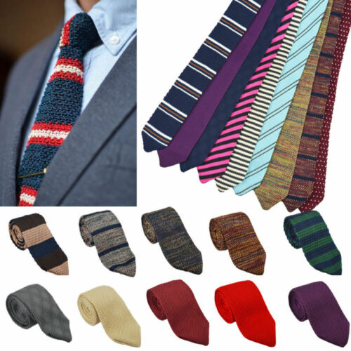 Fashion Men/'s Colourful Tie Knit Knitted Tie Necktie Narrow Slim Skinny Woven