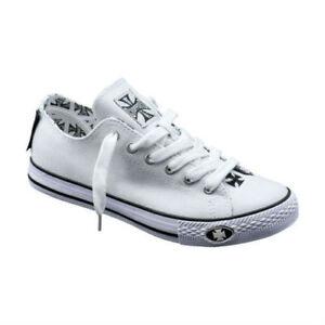 West-Coast-Choppers-guerriers-pompe-chaussures-en-blanc-livraison-gratuite-au-royaume-uni