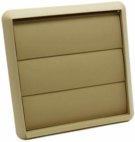 """Wall Vent Kit Tumble Dryer External Extractor Beige Gravity Grille 4/"""" 100mm"""