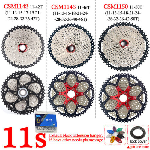 BOLANY KMC 8 9 10 11Speed MTB Bike Cassette Chain 40//42//46//50T Sprocket Chains