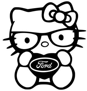 FORD-HELLO-KITTY-vinyl-car-window-decal-sticker-13-COLORS