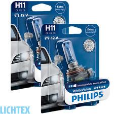 H11 PHILIPS WhiteVision Intensiver Xenon Effekt Scheinwerfer Lampe DUO Box