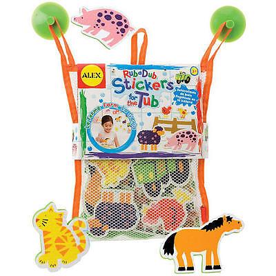Alex Stickers for the Tub - FARM Bath Toy Pool Learning Kids Child Game AL635W