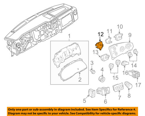 FORD OEM-Blower Motor Switch F49Z19986A