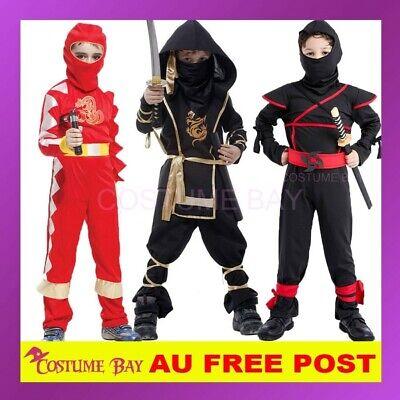 NINJA WARRIOR CHILD BOYS BOOK WEEK FANCY DRESS HALLOWEEN COSTUME