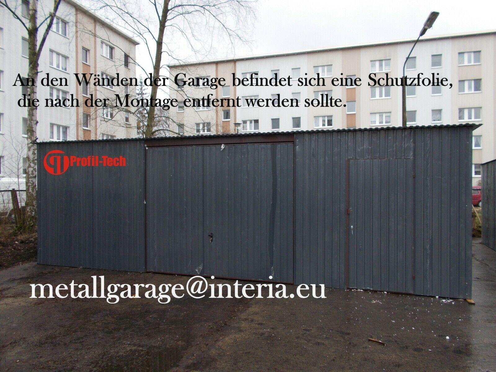 8x6 Blechgarage Fertiggarage Metallgarage RAUM KFZ REIFEN LAGER GARAGE