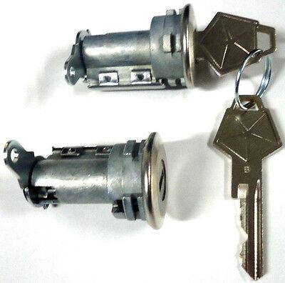 PAIR FOR CHRYSLER W//2 OEM Logo Keys NEW Lockcraft Door Lock Key Cylinder