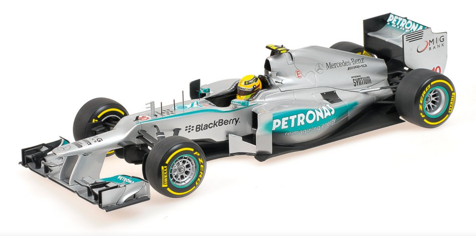 1 18 Mercedes Hamilton F1 2013 1 18 • Minichamps 110130080