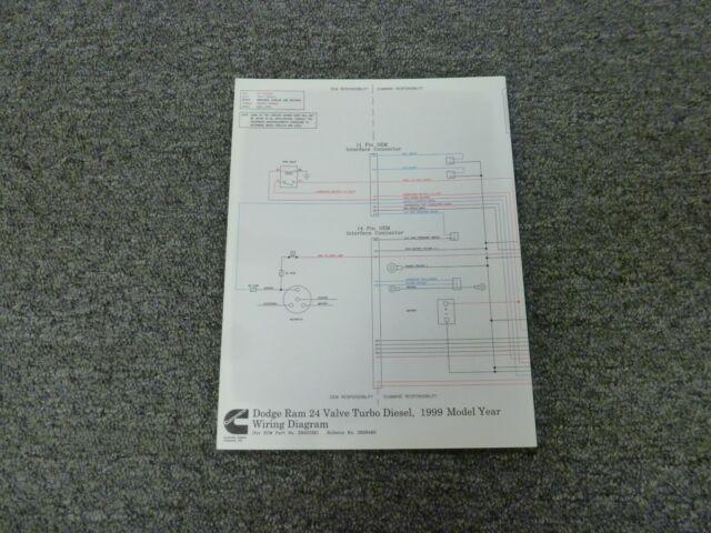 1999 Dodge Ram 3500 5 9l Cummins Turbo Diesel Electrical Wiring Diagram Manual