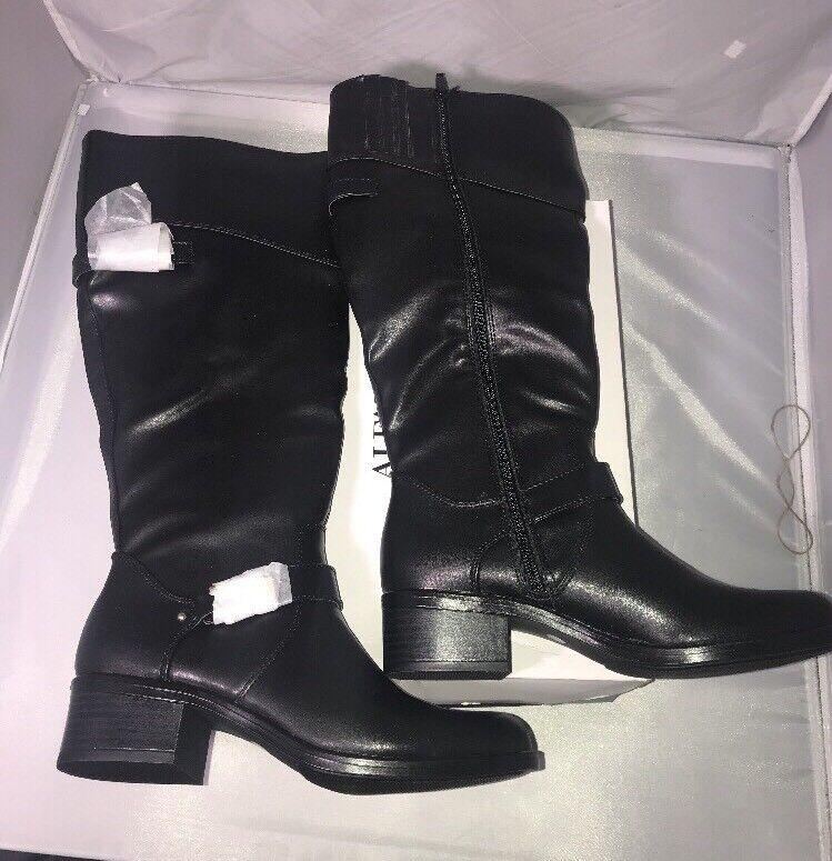 Alfani Womens Fidoe Wide Calf Leather Almond Toe Knee Size: 5